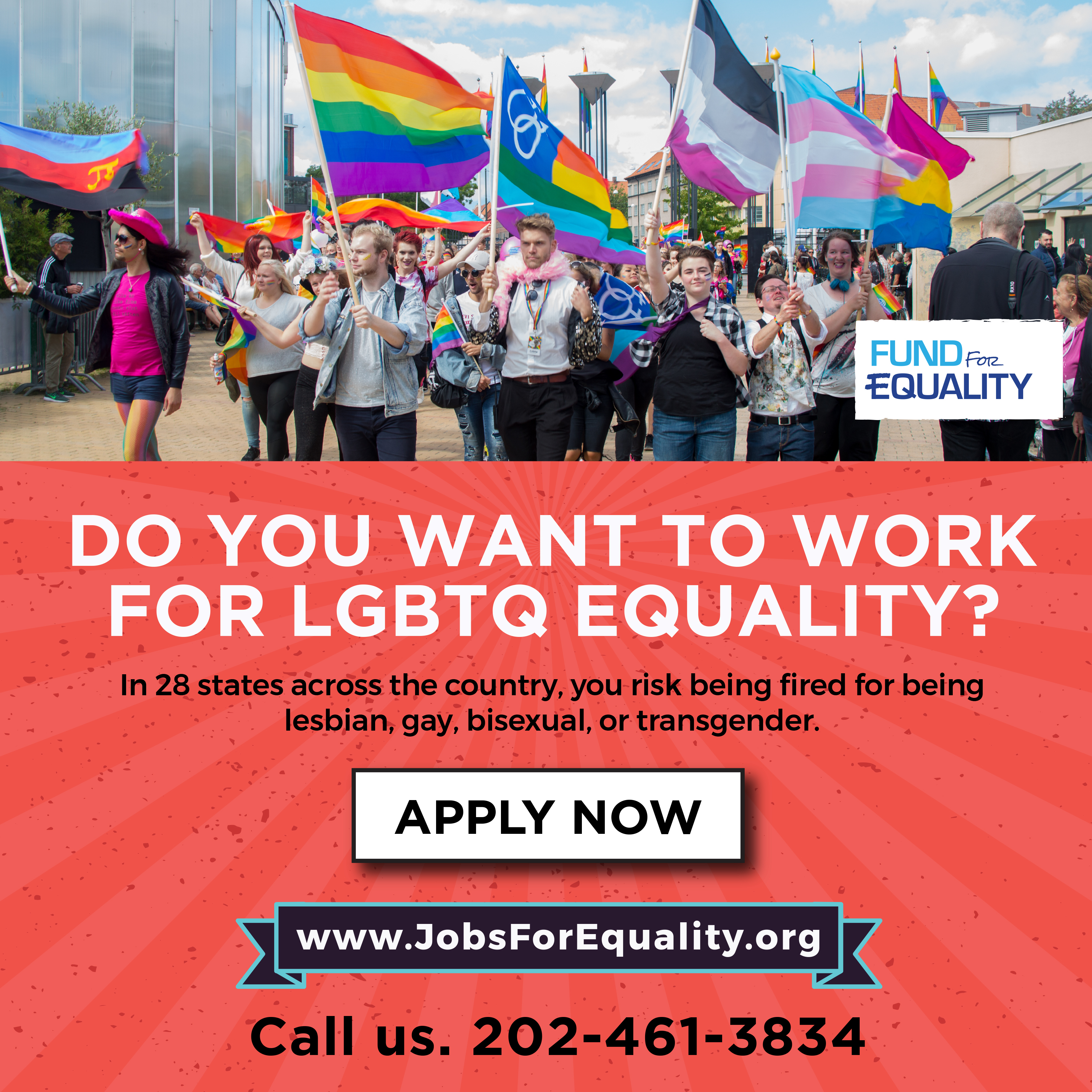 Fund for Equality is hiring people this summer to work for LGBTQ equality. Apply for a summer job today.